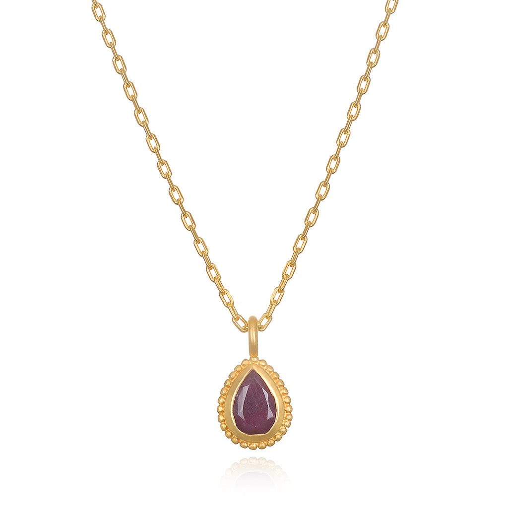 Ruby Gemstone Necklace - Satya Jewelry