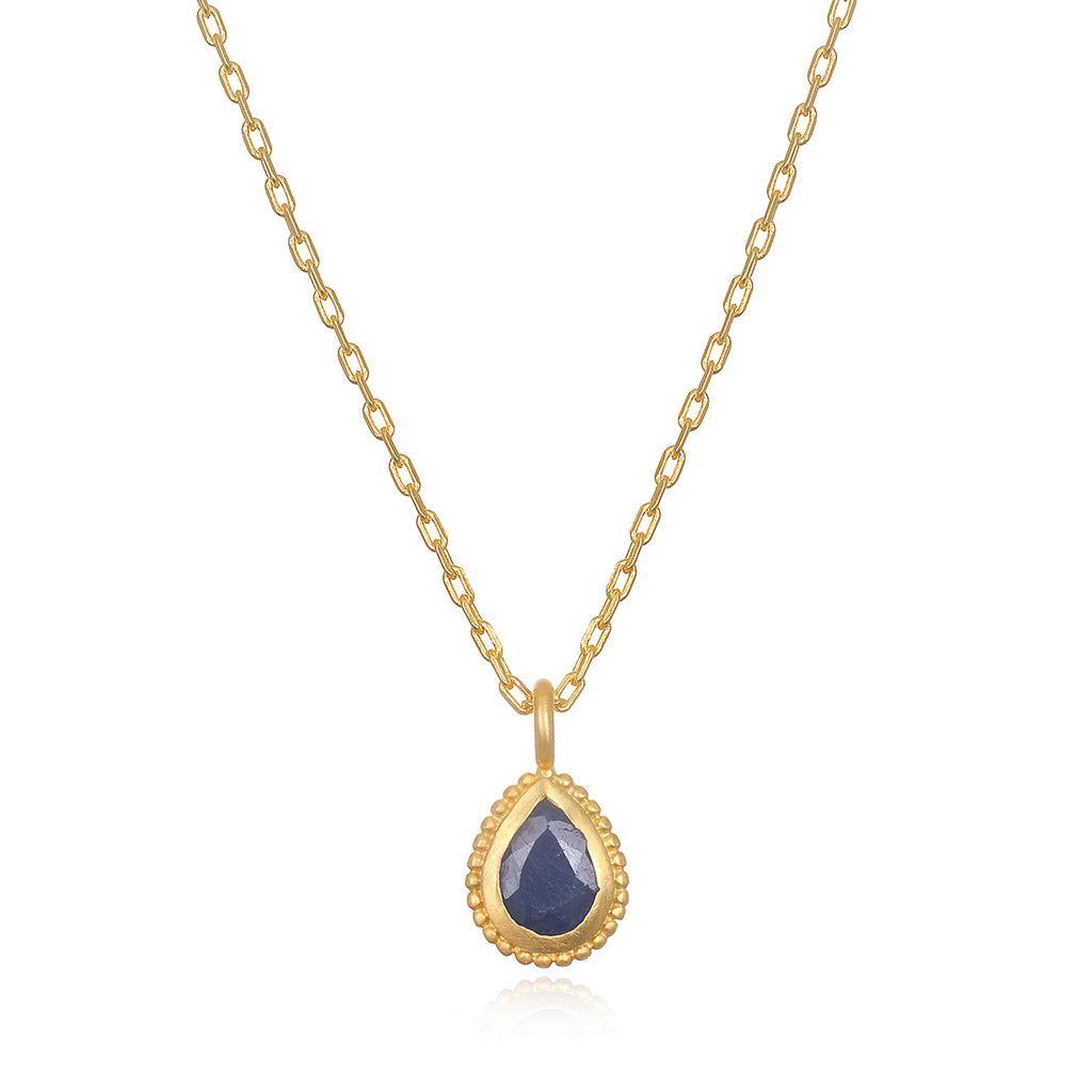 Blue Sapphire Gemstone Necklace - Satya Jewelry