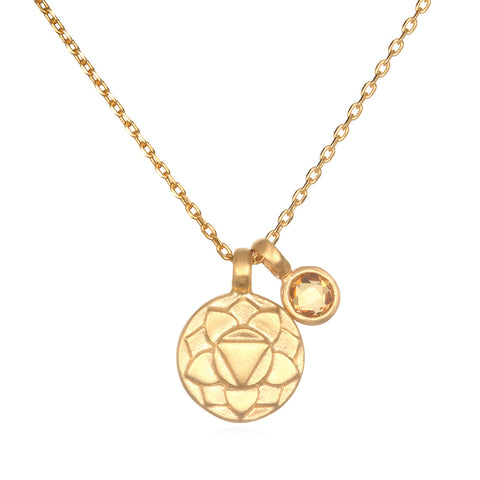 Leo Zodiac Necklace Gold