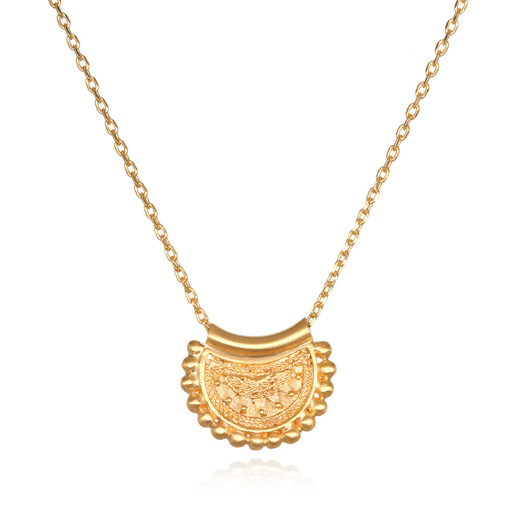 flower necklace small bliss mandala shop products vermeil