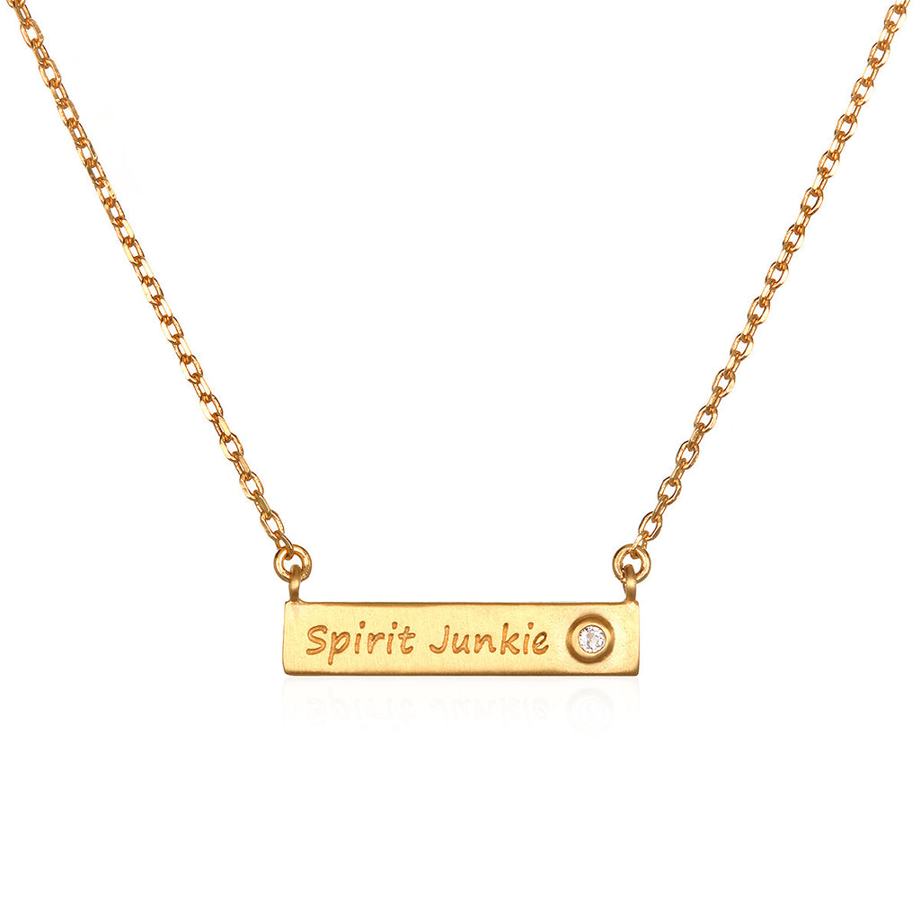 Gabby Bernstein's Spirit Junkie Necklace - Satya Jewelry