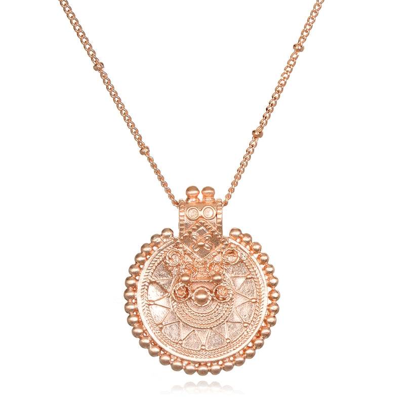 Rose Gold Mandala Necklace - Satya Jewelry