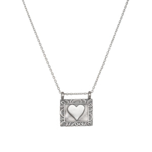 Heart Centered Silver Necklace - Satya Jewelry