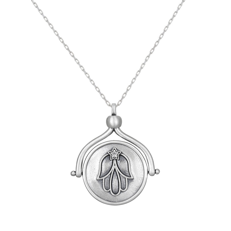 In Safekeeping Silver Spinner Necklace