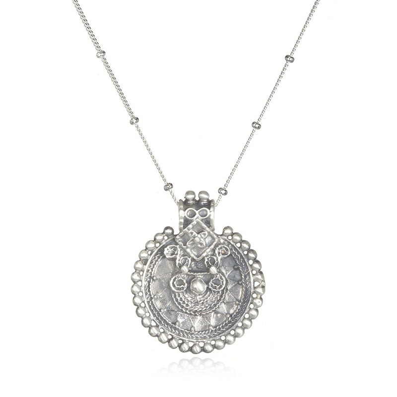 Silver Mandala Necklace - Satya Jewelry