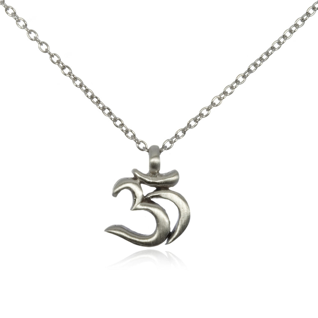 Chakra Om Necklace in Silver - Satya Jewelry
