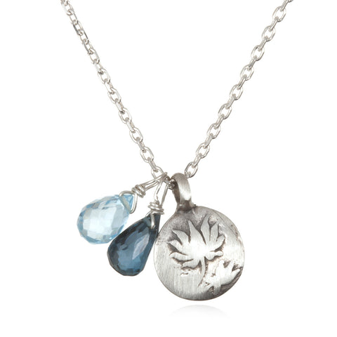 Silver Lotus Necklace - Two Blooms