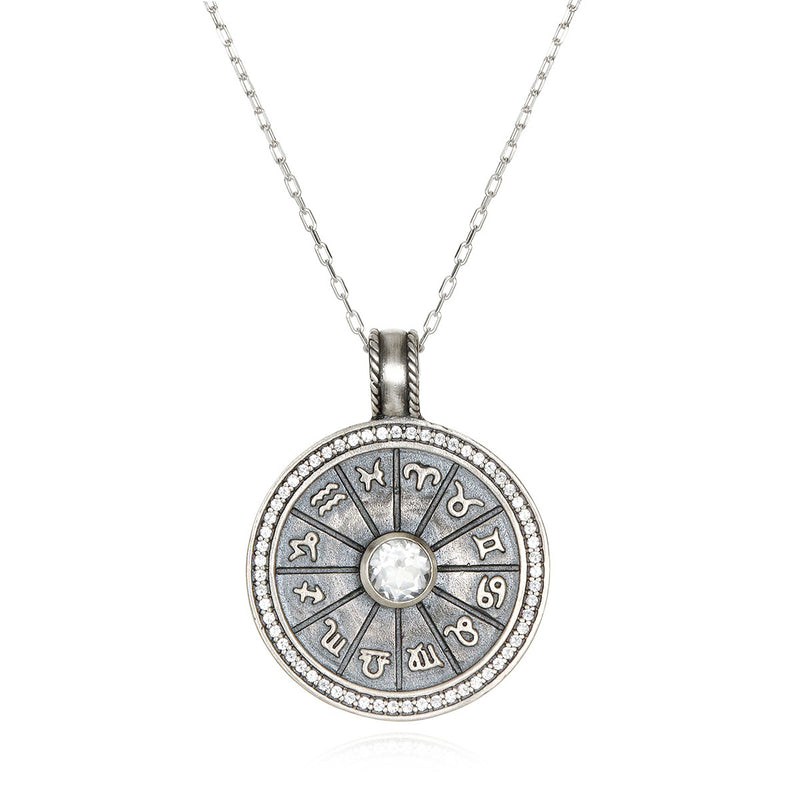 Sacred Self Silver Zodiac Necklace - Satya Jewelry