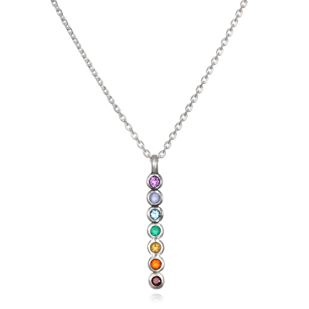 Divine Alignment Silver Chakra Necklace