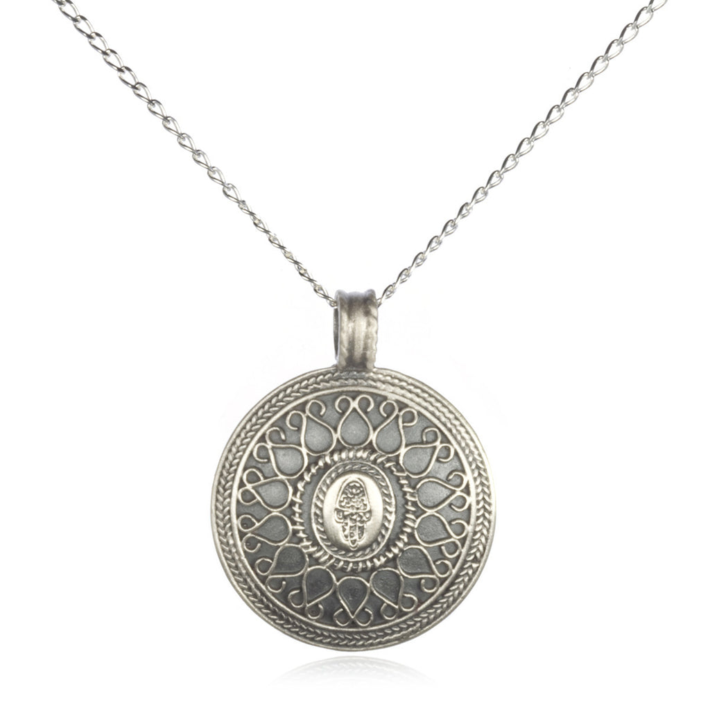Silver Be Present Hamsa Necklace - Satya Jewelry