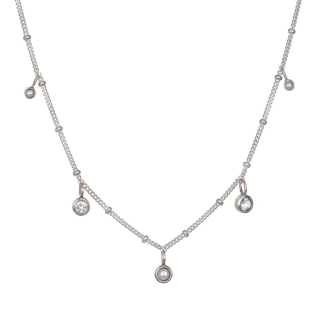 Luminous Beauty Silver Choker Necklace - Satya Jewelry