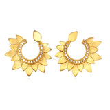 Gold Petal Swirl Earring - Satya Jewelry