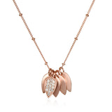 In Full Bloom Rose Gold Necklace - Satya Jewelry