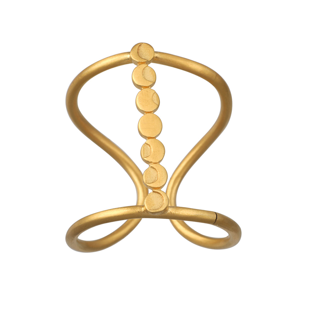 Cycles of the Goddess Adjustable Gold Ring - Satya Jewelry