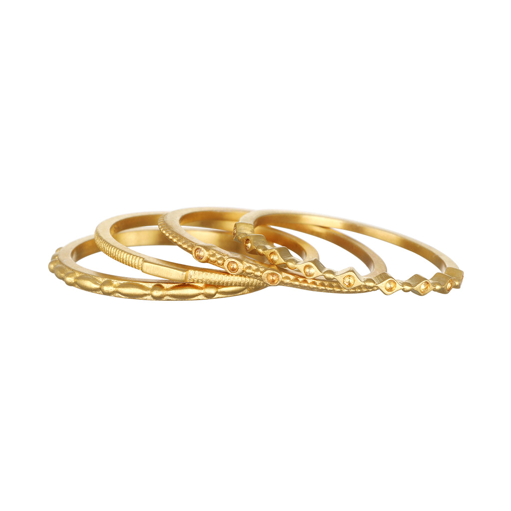 Fundamental Gold Ring Set - Satya Jewelry