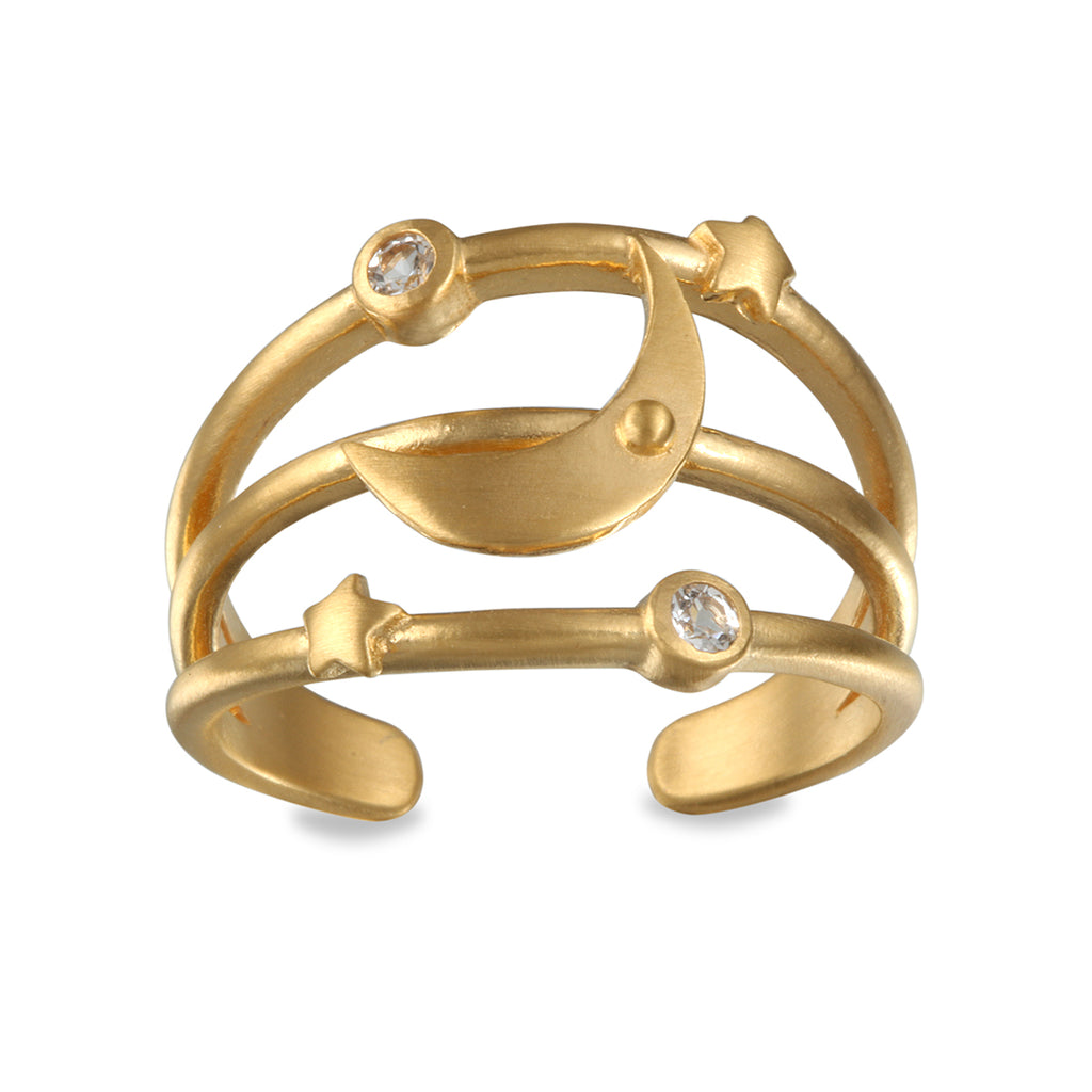 Heavenly Compass Gold Ring