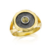 Gunmetal And Gold Pyrite Sun Ring - Helios - Satya Jewelry