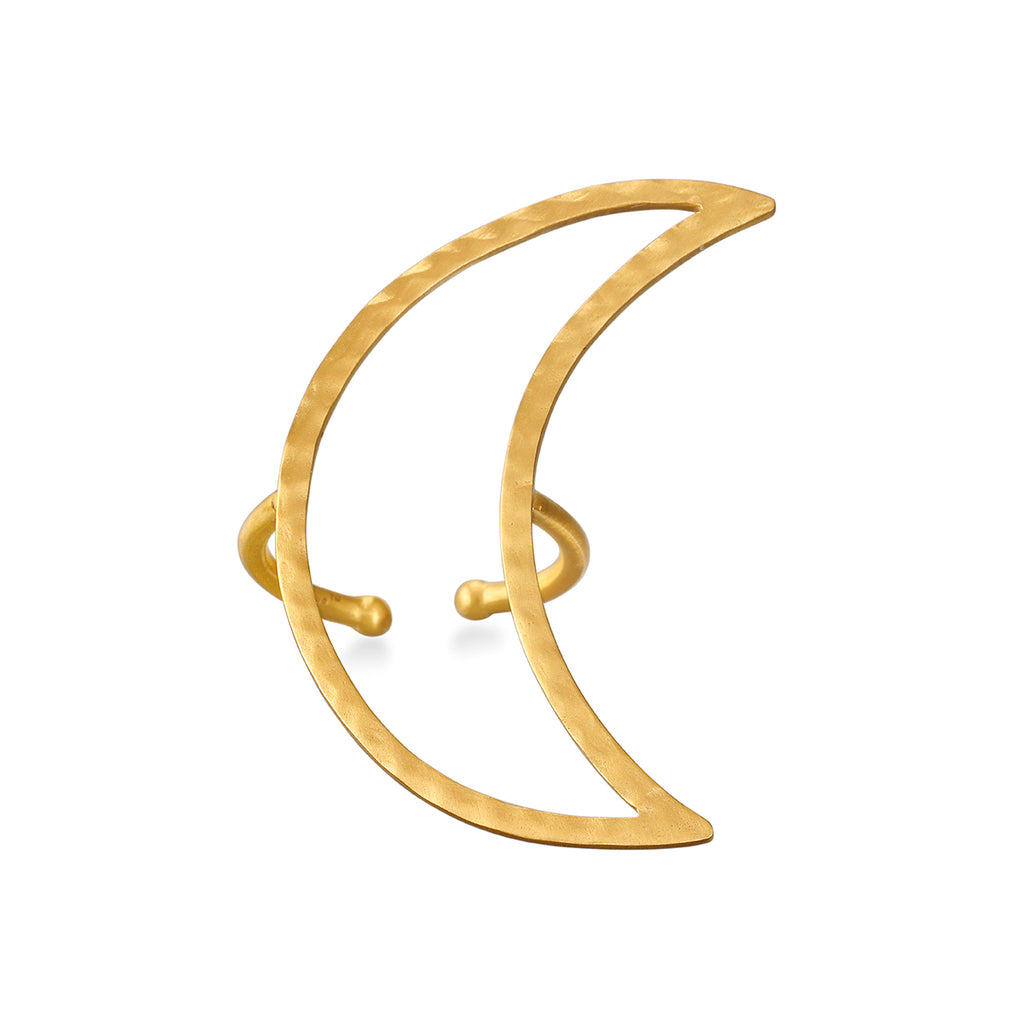 Yoga Girl Big Moon Ring - Satya Jewelry