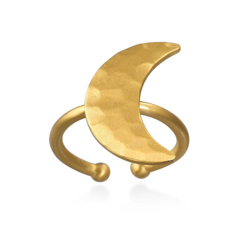 Yoga Girl Little Moon Ring - Satya Jewelry