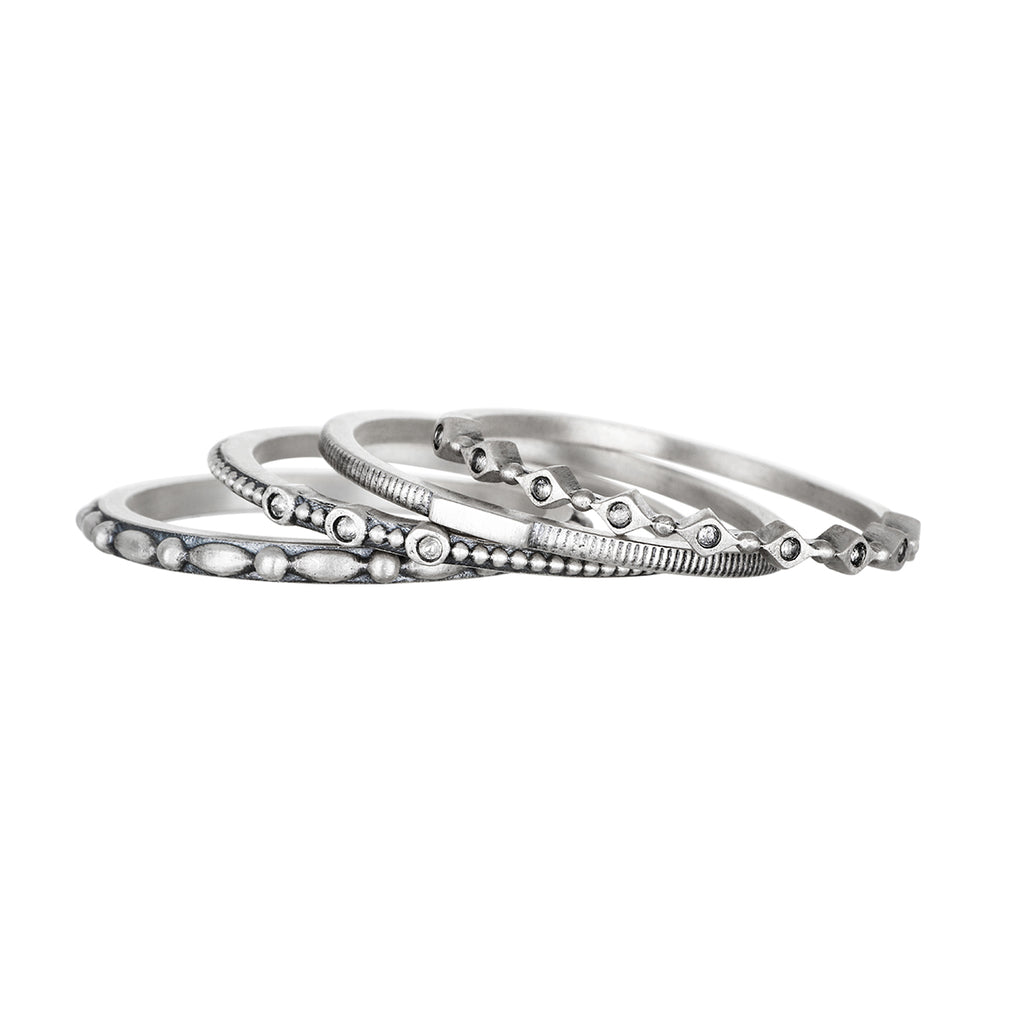 Fundamental Silver Ring Set - Satya Jewelry