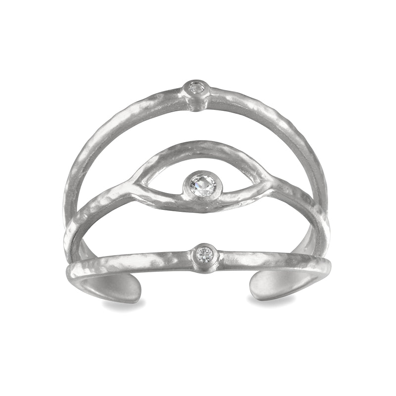 Shielded from Negativity Silver Ring - Satya Jewelry