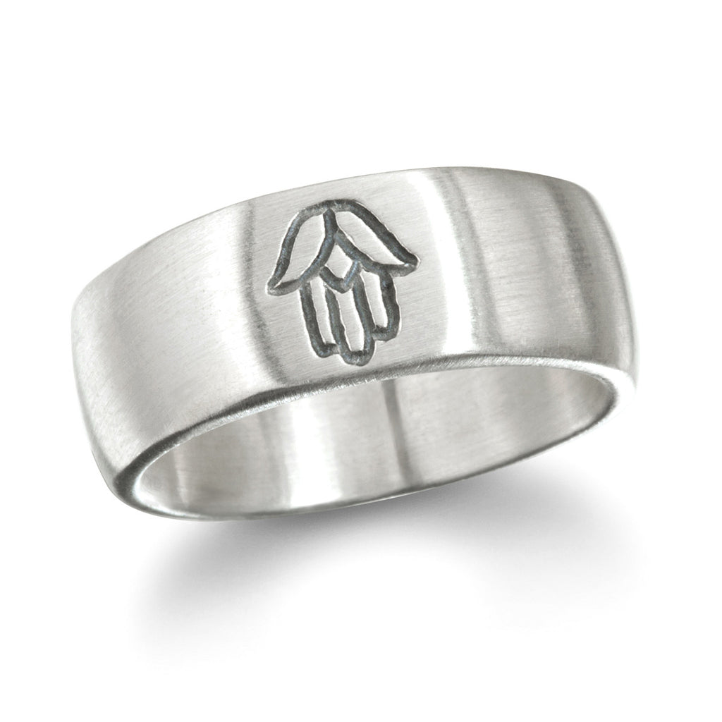 Silver Hamsa Men's Ring - Big Sky