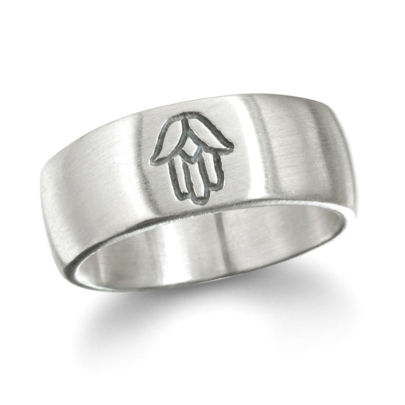 Silver Hamsa Men's Ring - Big Sky - Satya Jewelry