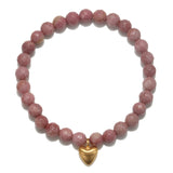 Heart Rhodonite Bracelet