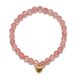 Heart Cherry Quartz Bracelet