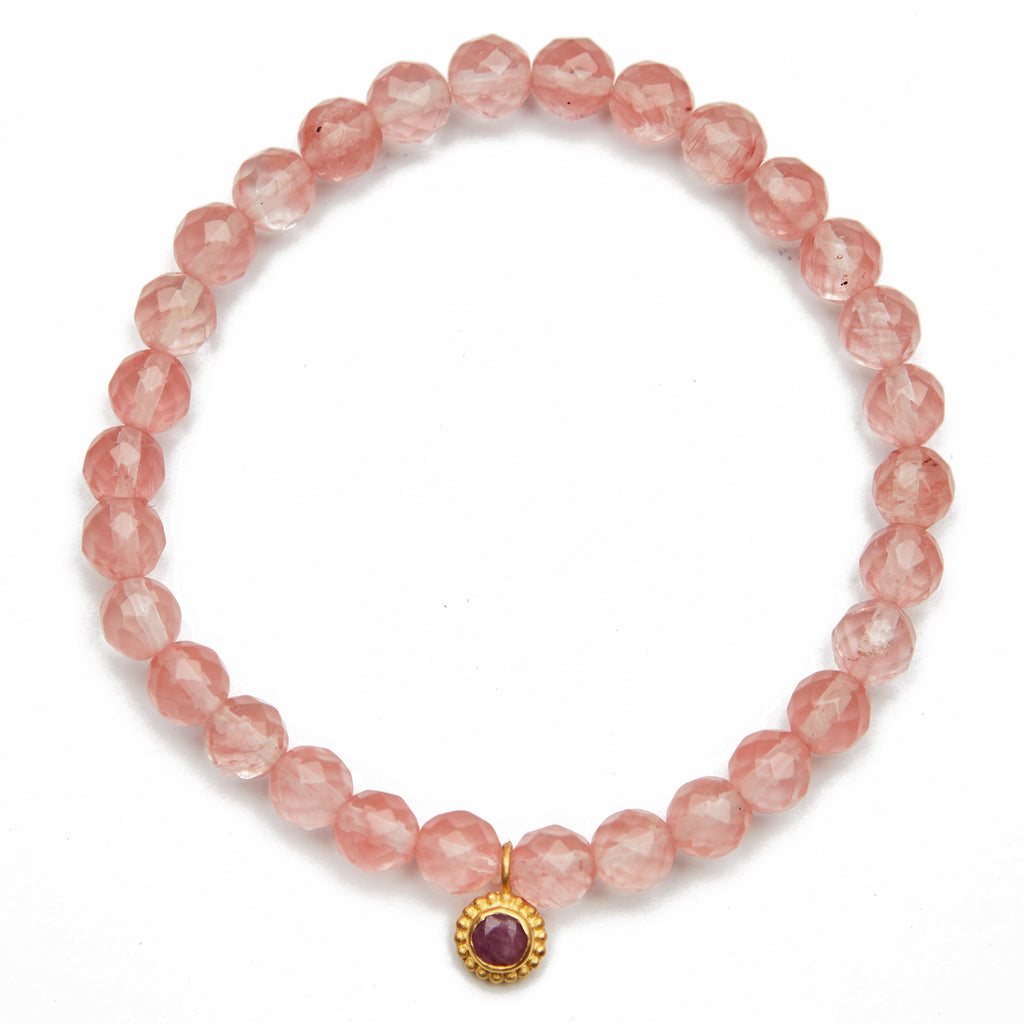 Cherry Quartz Bracelet - Satya Jewelry