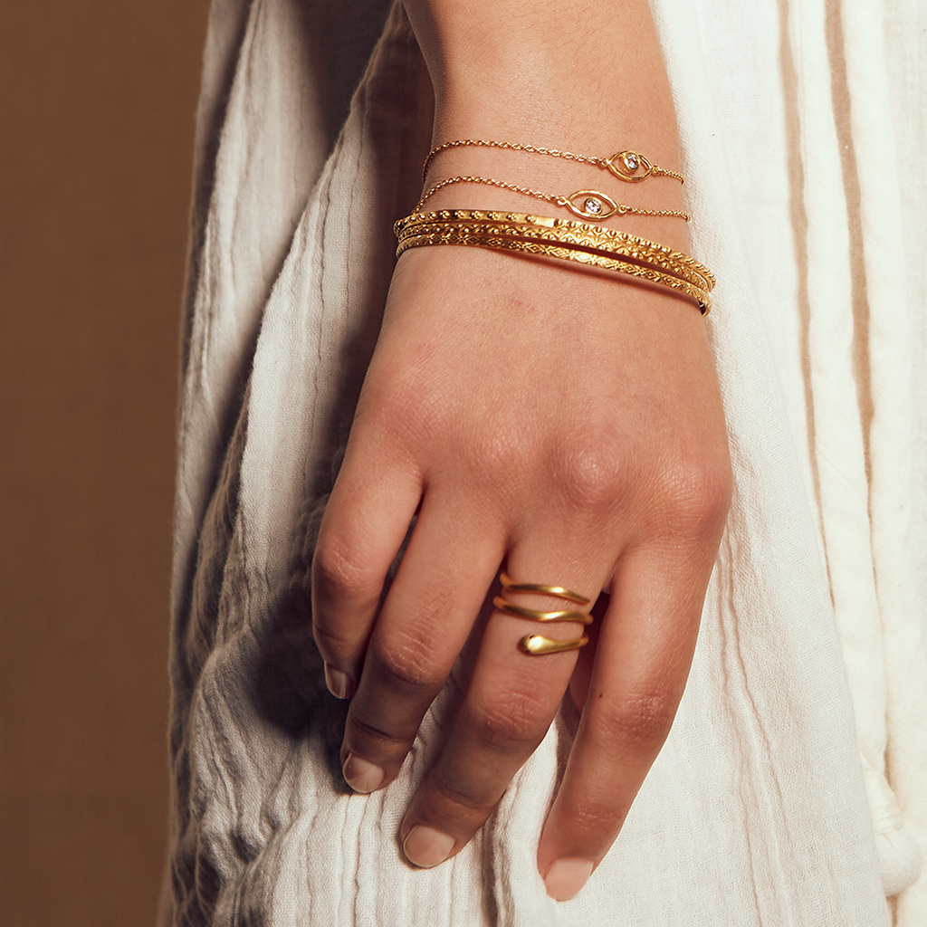 Bohemian Gold Bangle Set - Satya Jewelry