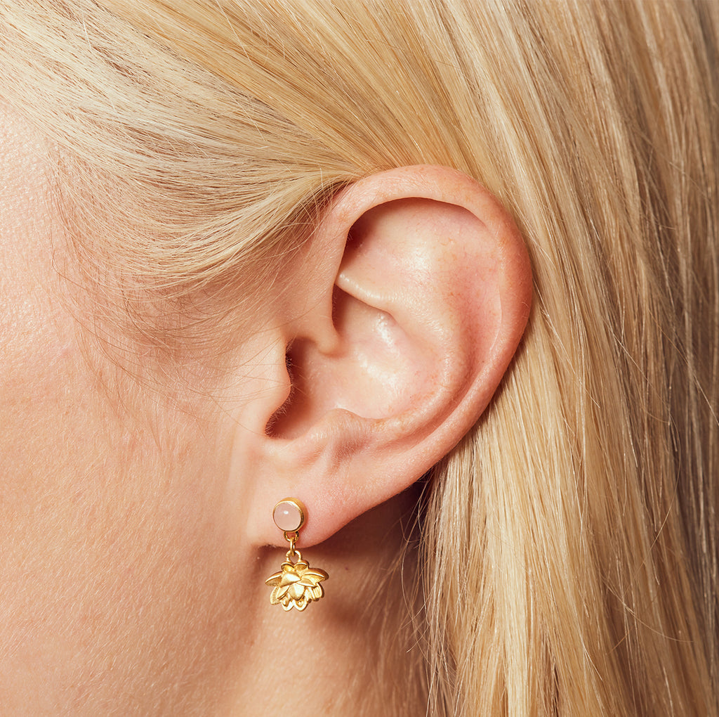 Blooming Compassion Gold Earrings