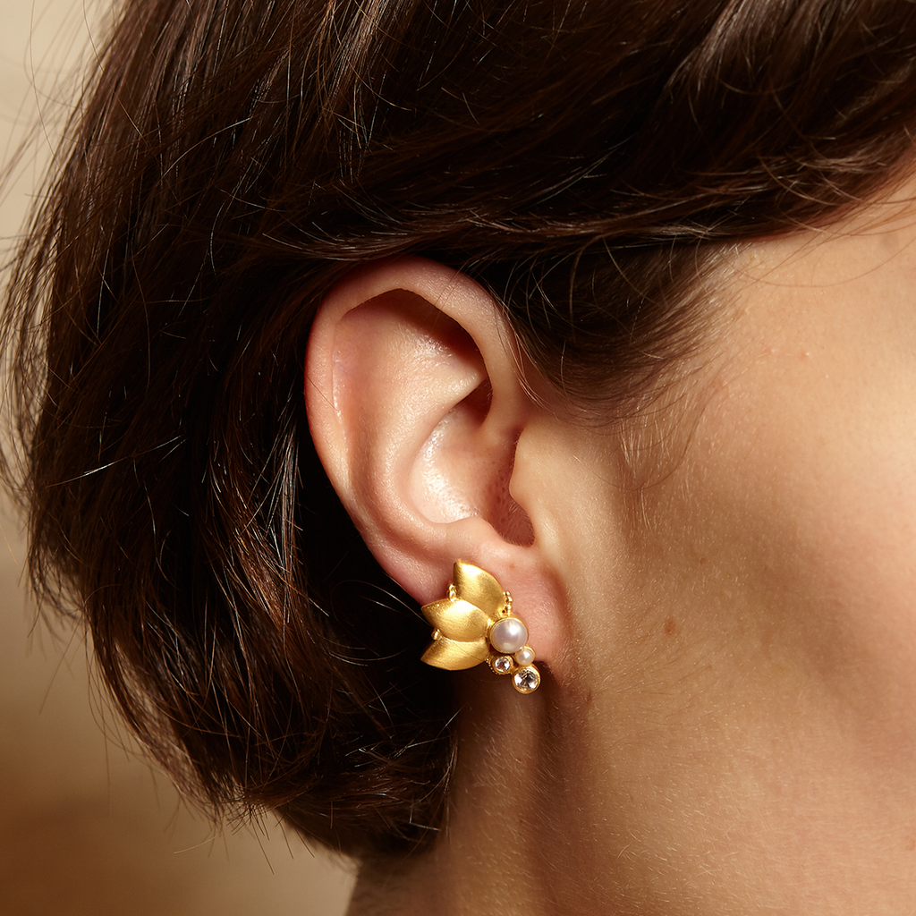 In Unity Gold Earrings - Satya Jewelry