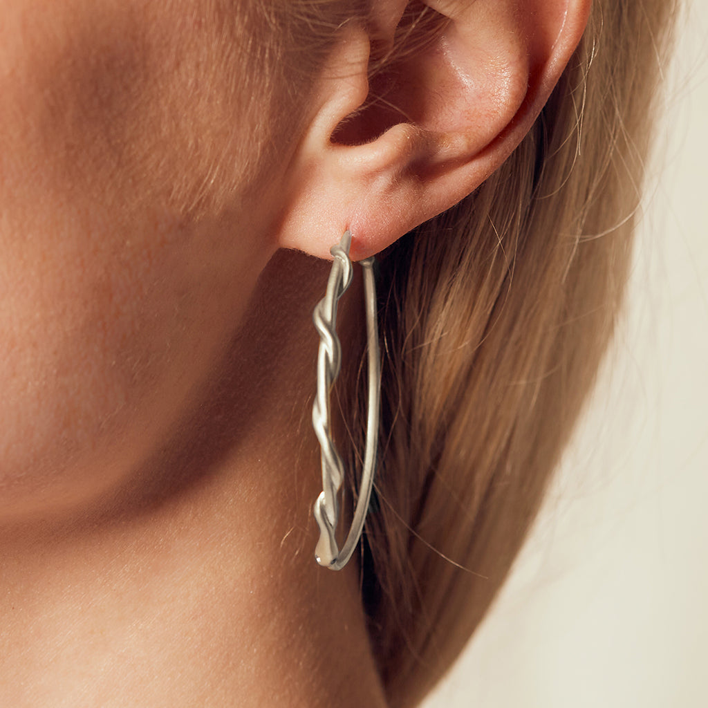 Infinite Energy Silver Serpent Earrings - Satya Jewelry