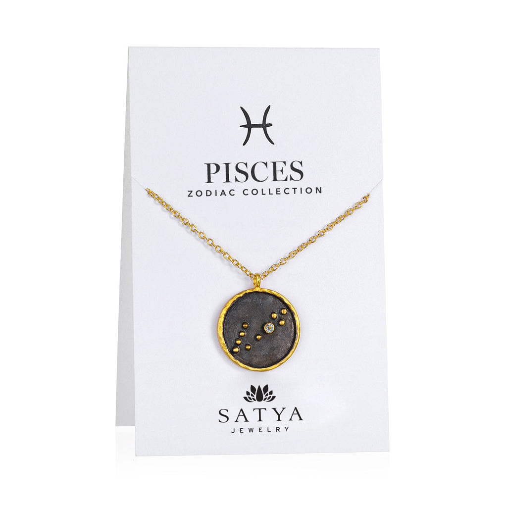 Pisces Zodiac Necklace - Satya Jewelry