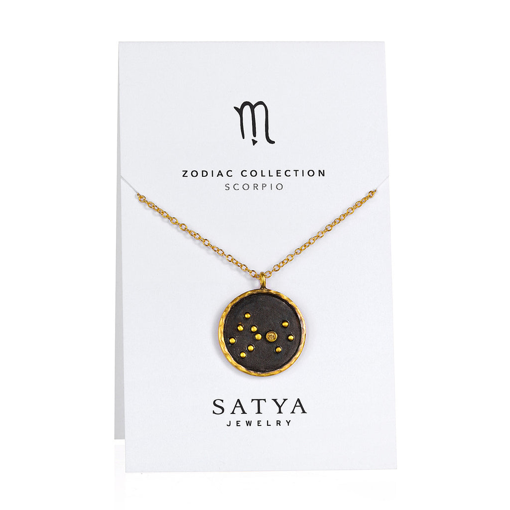 Scorpio Zodiac Necklace - Satya Jewelry