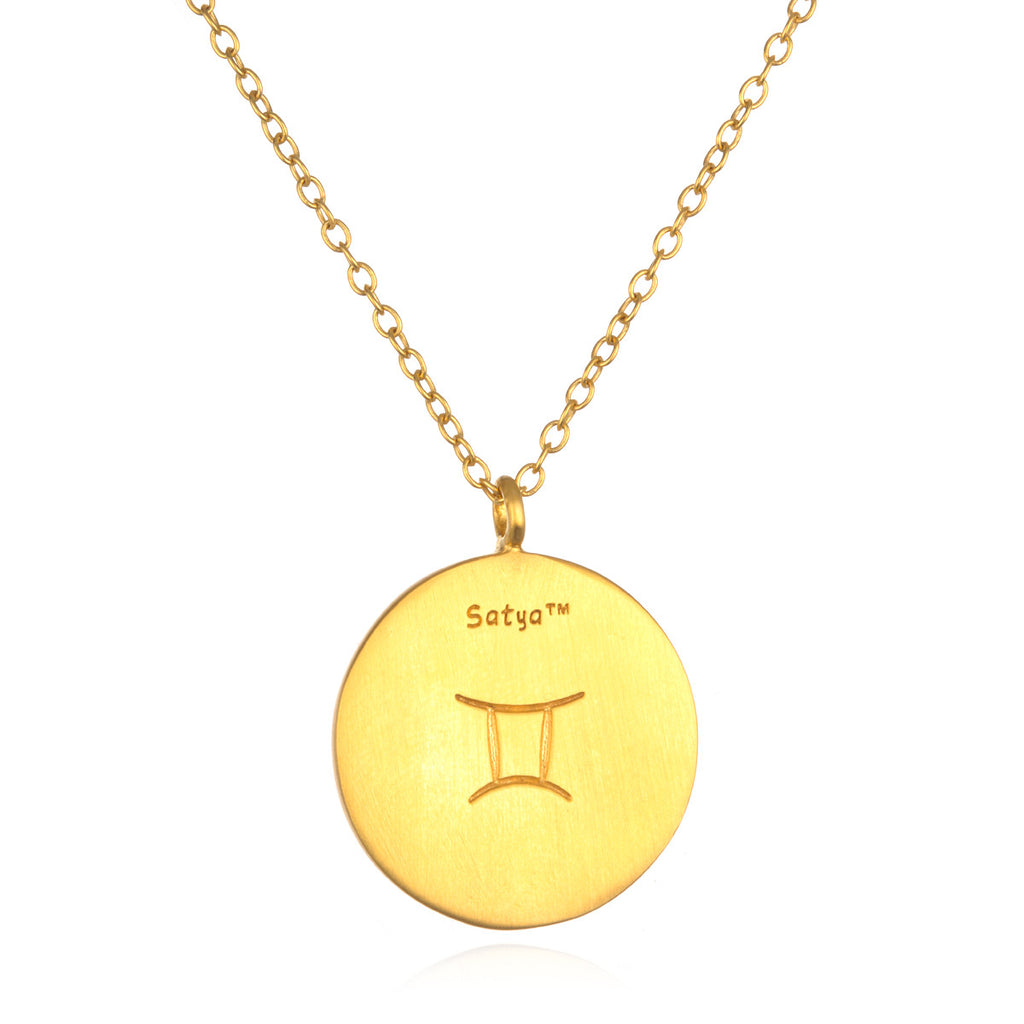 Gemini Zodiac Necklace - Satya Jewelry