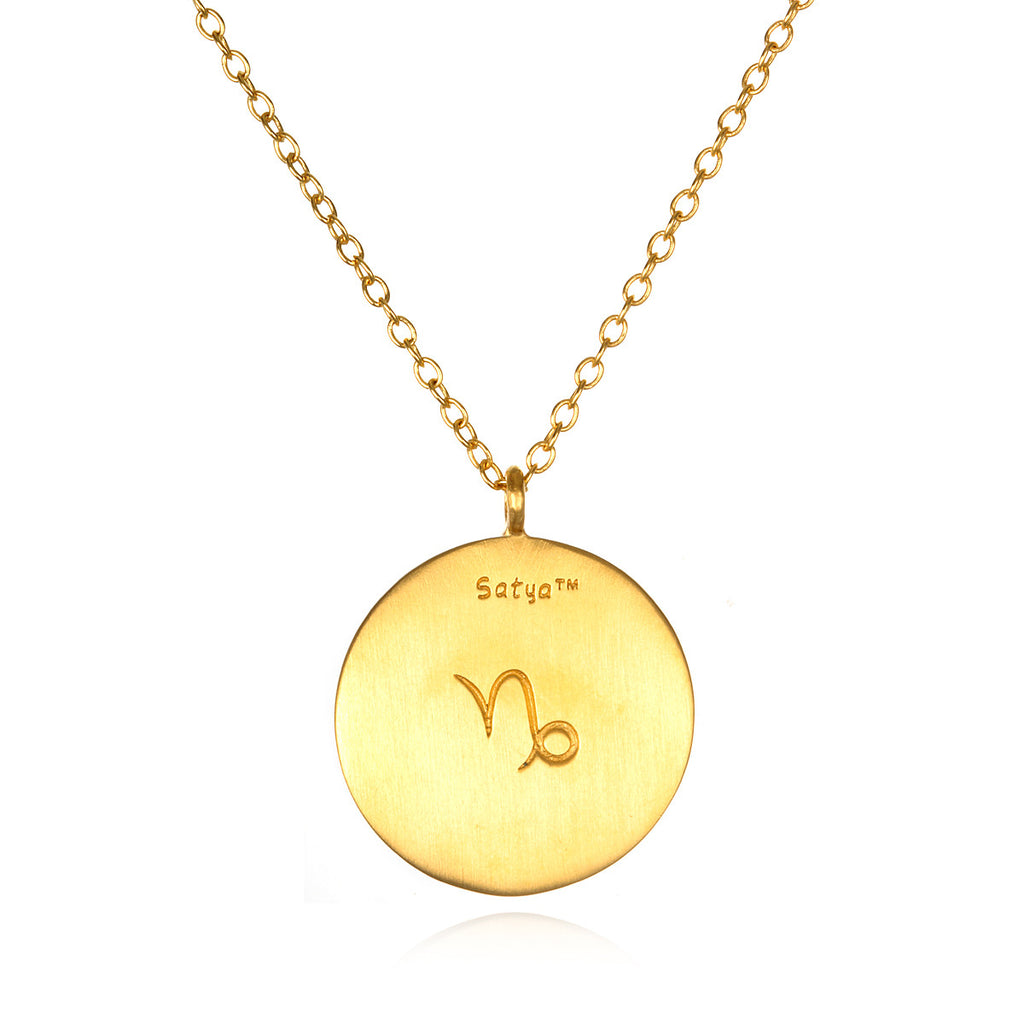Capricorn Zodiac Necklace - Satya Jewelry