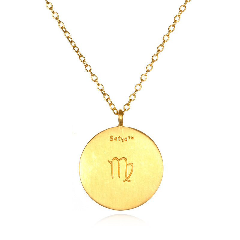 Virgo Zodiac Necklace - Satya Jewelry