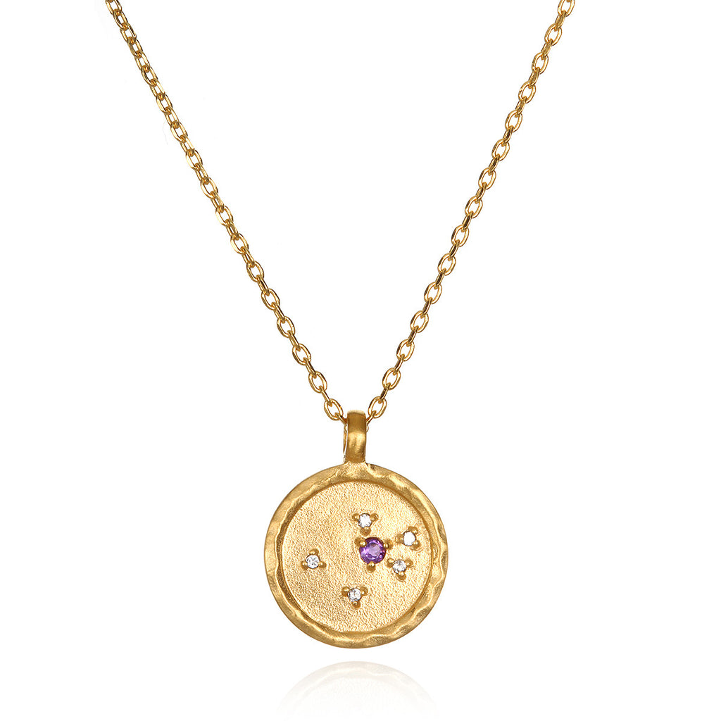 Aquarius Zodiac Necklace Gold - Satya Online