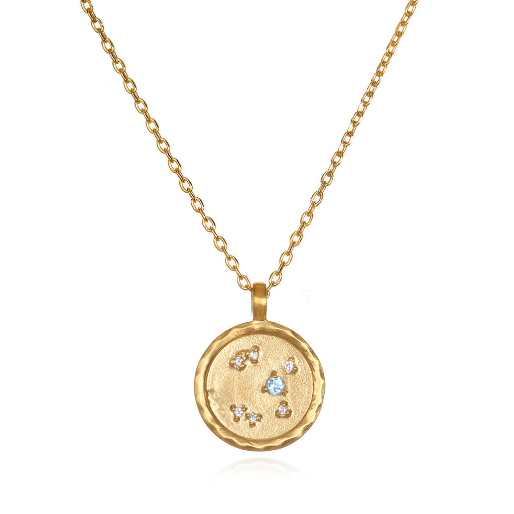 Sagittarius Zodiac Necklace Gold - Satya Jewelry
