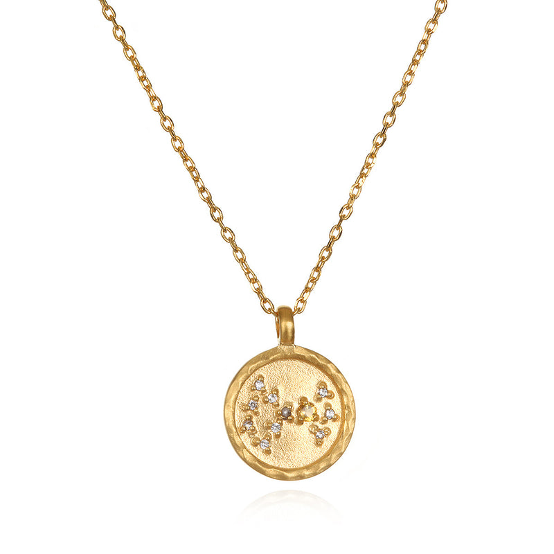 Scorpio Zodiac Necklace Gold - Satya Jewelry