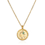 Taurus Zodiac Necklace Gold