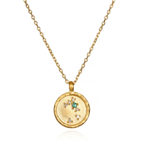 Sacred Self Gold Zodiac Necklace