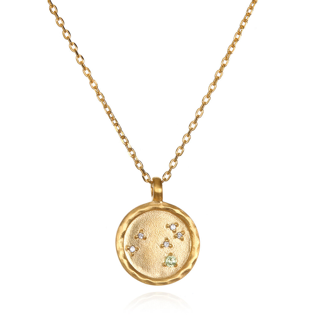 Leo Zodiac Necklace Gold - Satya Jewelry
