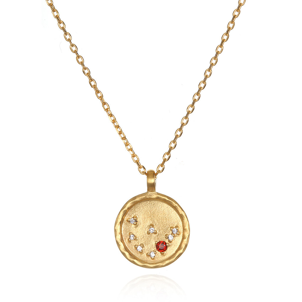 Capricorn Zodiac Necklace Gold - Satya Jewelry