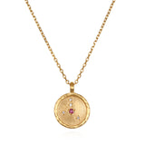 Cancer Zodiac Necklace Gold - Satya Jewelry