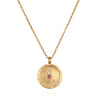 Cancer Zodiac Necklace Gold