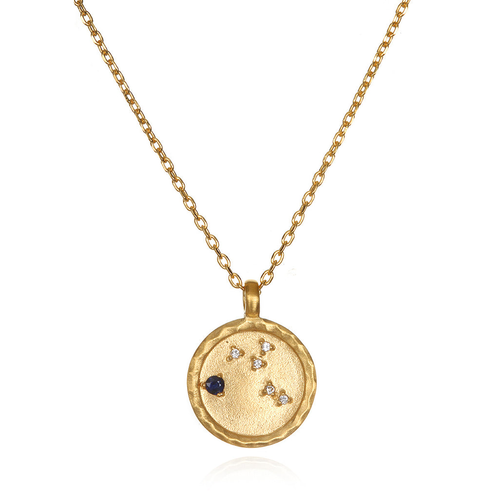 Virgo Zodiac Necklace Gold - Satya Jewelry
