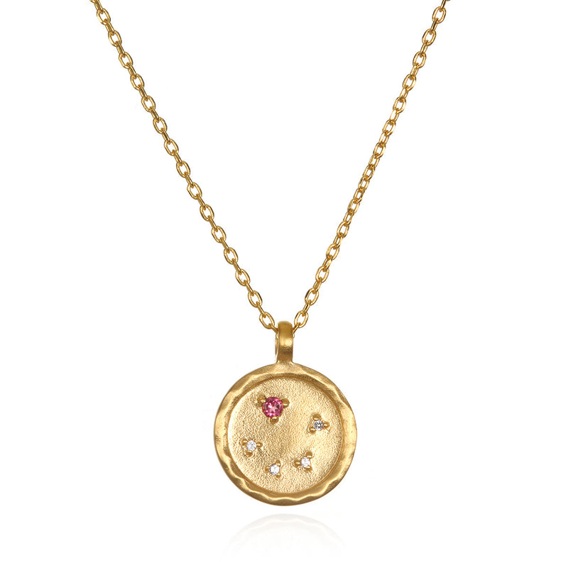 Libra Zodiac Necklace Gold - Satya Online